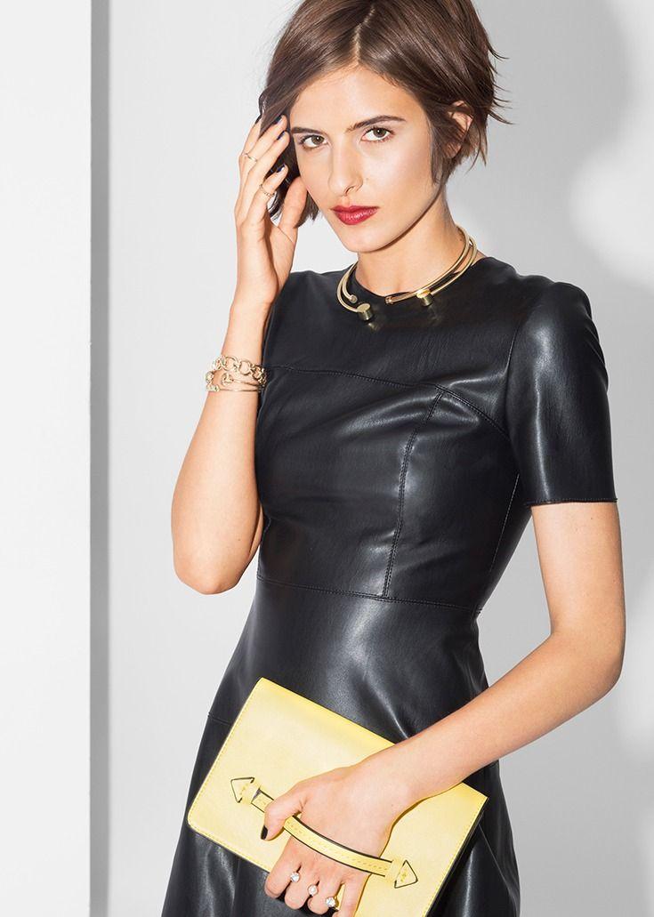 pas cher pour réduction da0df 74255 Cuir Robe Zara Cuir Simili Robe Robe Zara Simili Noir Noir ...