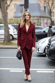 tailleur pantalon bordeaux - BlackSapes